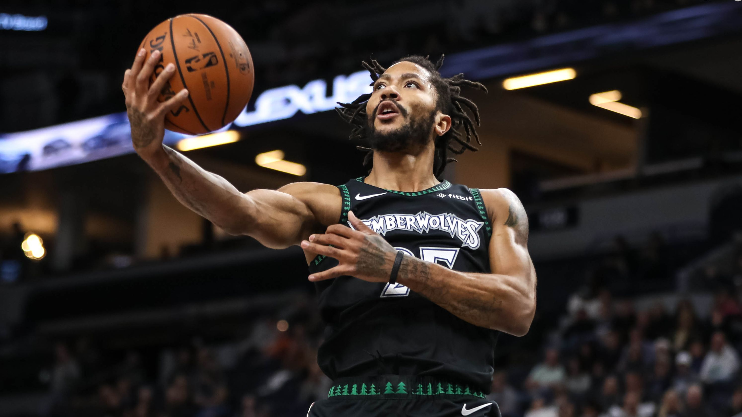 reputable site 929f2 cbb74 Ex-MVP Derrick Rose delights NBA with career-high 50 points ...
